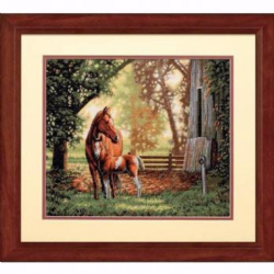 Counted Cross Stitch: Mare and Foal